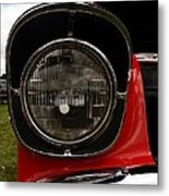 Old Car Headlight Metal Print