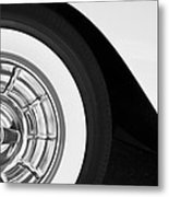 1957 Corvette Wheel Metal Print by Jill Reger