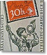 1957 Czechoslovakia Stamp Metal Print