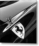 1957 Ferrari Tr 250 - 0714 Emblem -0379bw Metal Print
