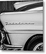 1957 Ford Fairlane Emblem -359bw Metal Print