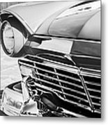 1957 Ford Fairlane Grille -107bw Metal Print
