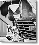 1957 Ford Fairlane Grille -205bw Metal Print