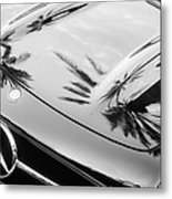 1957 Mercedes-benz 300sl Grille Emblem -0167bw Metal Print