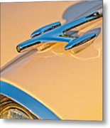 1957 Oldsmobile Hood Ornament 6 Metal Print