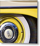 1957 Pontiac Starchief Wheel Cover Metal Print