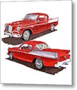 1957 Studebaker Silver Hawk Metal Print