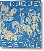 1958 Battle Of Fort Duquesne Stamp Metal Print