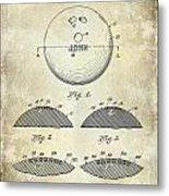 1958 Bowling Patent Drawing Metal Print
