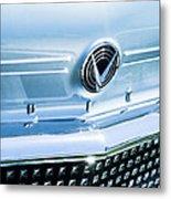 1958 Buick Roadmaster 75 Convertible Grille Emblem Metal Print