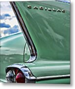 1958 Cadillac It's All In The Fin. Metal Print