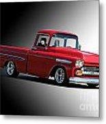 1958 Chevrolet Apache Pick Up Truck Metal Print