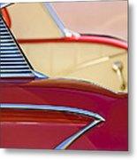 1958 Chevrolet Belair Abstract Metal Print