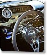 1958 Chevy Impala Dashboard Metal Print