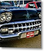 1958 Chevy Impala Front End Grill Work Metal Print