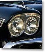 1958 Chevy Impala Headlights Metal Print