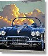 1958 Corvette In Clouds Metal Print