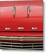 1958 Dodge Coronet Super D-500 Convertible Hood Ornament Metal Print by Jill Reger