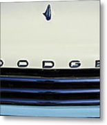 1958 Dodge Sweptside Truck Grille Metal Print