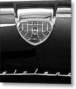 1958 Ford Fairlane 500 Victoria Hood Emblem Metal Print by Jill Reger