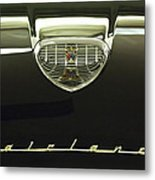 1958 Ford Fairlane 500 Victoria Hood Ornament Metal Print by Jill Reger