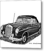 1958 Mercedes Benz 220s Metal Print