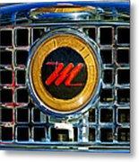 1958 Nash Metropolitan Hood Ornament 3 Metal Print