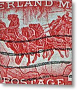 1958 Overland Mail Stamp Metal Print