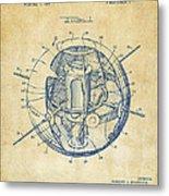 1958 Space Satellite Structure Patent Vintage Metal Print