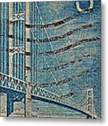 1958 The Mighty Mac Stamp Metal Print