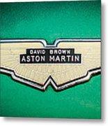 1959 Aston Martin Db4 Gt Hood Emblem -0127c Metal Print