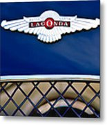 1959 Aston Martin Jaguar C-type Roadster Hood Emblem Metal Print