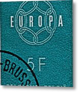 1959 Belgium Stamp - Brussels Cancelled Metal Print