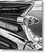 1959 Cadillac Eldorado Taillight -097bw Metal Print