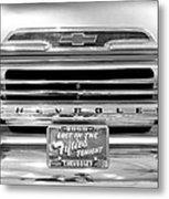 1959 Chevrolet Apache Bw 012315 Metal Print
