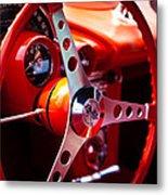 1959 Chevy Corvette Steering Wheel Metal Print