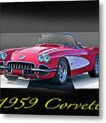 1959 Corvette Roadster II Metal Print