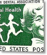 1959 Dental Health Postage Stamp Metal Print