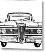 1959 Edsel Ford Ranger Illustration Metal Print