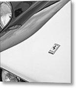 1959 Ferrari 250 Gt Emblem -0010bw Metal Print