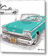 Retractable Hard Top Metal Print