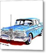 1959 Ford Edsel Ranger 4-door Sedan Metal Print