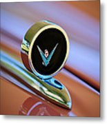 1959 Ford Thunderbird Convertible Hood Ornament Metal Print
