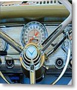 1959 Ford Thunderbird Convertible Steering Wheel Metal Print