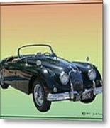 1959 Jaguar 150 S S Drop Head Coupe Metal Print