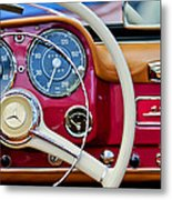1959 Mercedes-benz 190 Sl Steering Wheel Metal Print