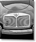 1959 Mg A 1600 Roadster Front End -0055bw Metal Print