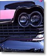 1959 Pink Plymouth Fury With Balloon Metal Print