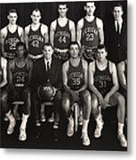 1959 University Of Michigan Basketball Team Photo Metal Print