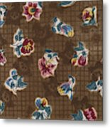 French Fabrics First Half Of The Nineteenth Century 1800 Metal Print